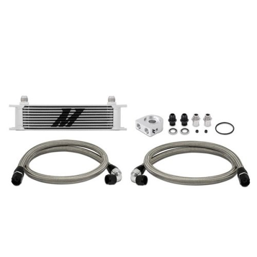 Mishimoto MMOC-U 10-Row Universal Oil Cooler Kit, Silver