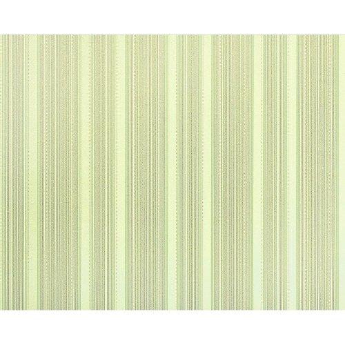EDEM 994-38 non-woven textured wallpaper XXL stripes green cream grey 10.65 m2
