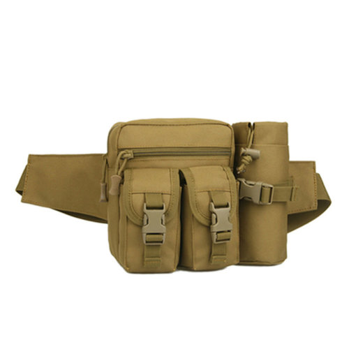 Outdoor Tactical Kettle Sports Waist Packs/Multi-function Travelling Bag khaki