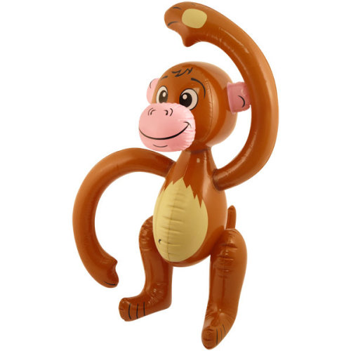 Henbrandt Inflatable Monkey - Party 58cm Blow Up Fancy Dress Jungle Animal Chimp -  inflatable monkey party 58cm blow up fancy dress jungle animal