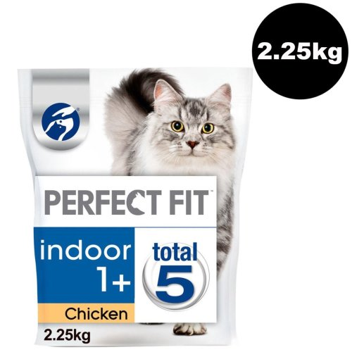 PERFECT FIT Cat Complete Dry Indoor 1+ Chicken 3x750g