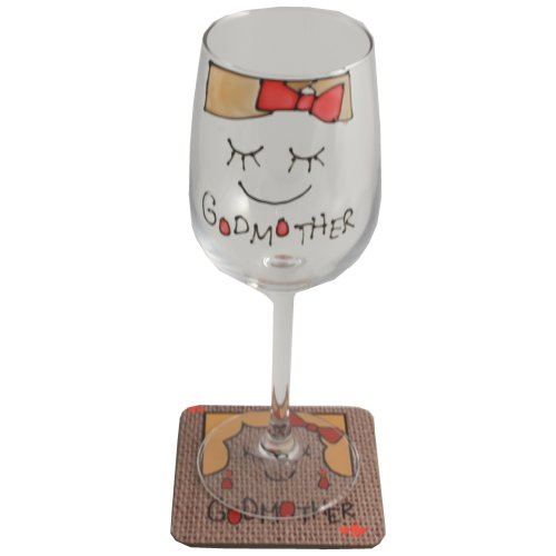 Godmother Wine Glass & Coaster Gift Set (Cami)