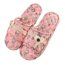 Lovely Cartoon Pattern Style Slippers For Women,Soft Slippers,Pink