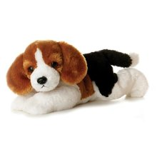 Mini Flopsie - Homer Beagle 8in - Aurora Plush World 8inch Flopsies -  aurora mini plush world 8inch flopsies homer beagle