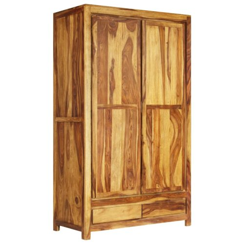 vidaXL Solid Sheesham Wood Wardrobe 110x55x190cm Bedroom Clothes Storage Unit