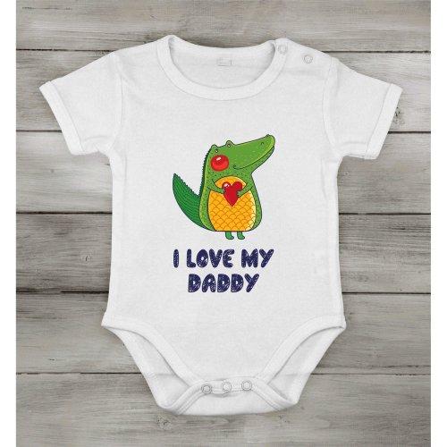 I love My Daddy safari frog Funny Cute Baby Newborn short Cotton cothing