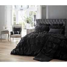 Alexander black ruched cotton blend duvet cover