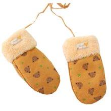 Warm Velvet Gloves Children Winter Thicken Orange Mittens (4-8 Years)