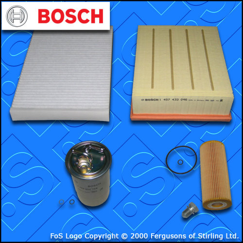 X351 3.0 D BOSCH OIL AIR FUEL CABIN FILTER 2009-2019 SERVICE KIT for JAGUAR XJ