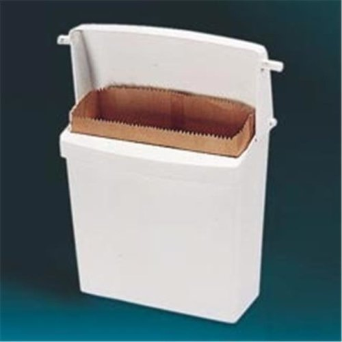 Rubbermaid RCP 6140 WHI Wall-Mount Sanitay Napkin Receptacle and Liner Bags