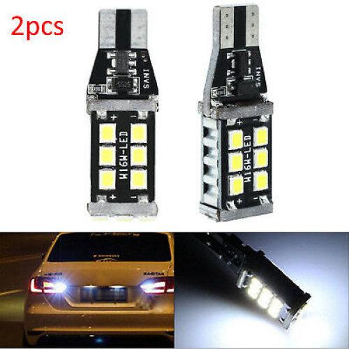 2PCS T15 W16W CANBUS 921 LED Tail Reverse Parking Light Bulbs White No Error UK