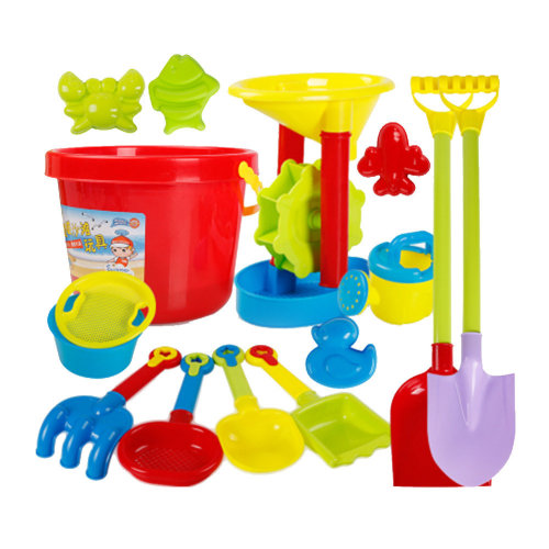 15 Piece Beach sand Toy Set, Bucket, Shovels, Rakes,Perfect for Holding Childrens' Toys#A