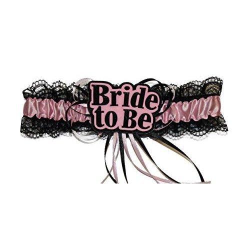 Alandra Bride To Be Garter -  garter bride hen night pink party sexy black accessory accessories
