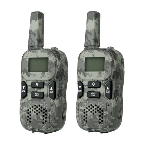 Camouflage Rechargeable Walkie Talkies 446 MHZ Kids Walkie Talkie Long Range 2 Way Radios with LED Torch Toys for Kids and Any Outdoor Activities
