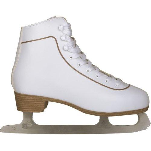Nijdam Women's Figure Skates Classic Leather Size 36 0043-WIT-36
