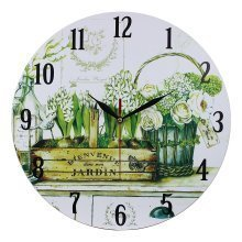 Home Decoration Bienvenue Dans Mon Jardin Scene 28cm MDF Wall Clock
