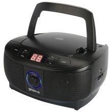 Groov-e Mini Boombox Portable CD Player with FM Radio - Black (GVPS723BK)