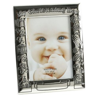 Juliana My Christening Day Silver Plated Antique Photo Frame