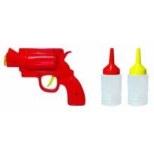 Gun Shaped Novelty Condiment Dispenser - Mustard Ketchup Sauce Bbq -  condiment gun mustard dispenser ketchup sauce bbq