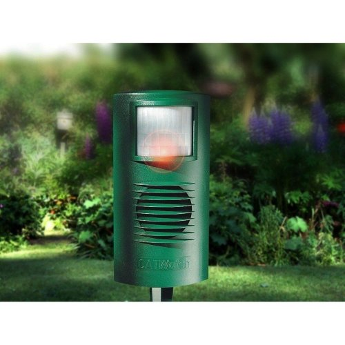 Cat Watch Ultrasonic and Electronic Garden Pest and Cat Deterrent