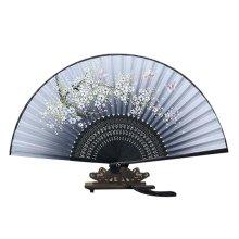 "8.27""(21cm) Hand Fan For Cosplay Dancing Props Bamboo Handheld Folding Fan"