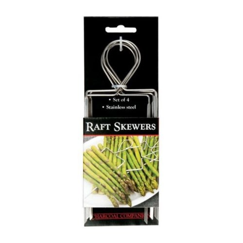 Charcoal Companion CC5135 Stainless Veggie Raft Skewers  4 Piece