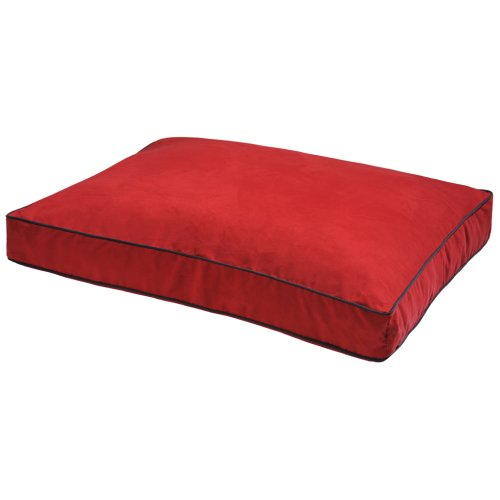 Dog Gone Smart Suede Rectangle Bed Red 91x122x10cm