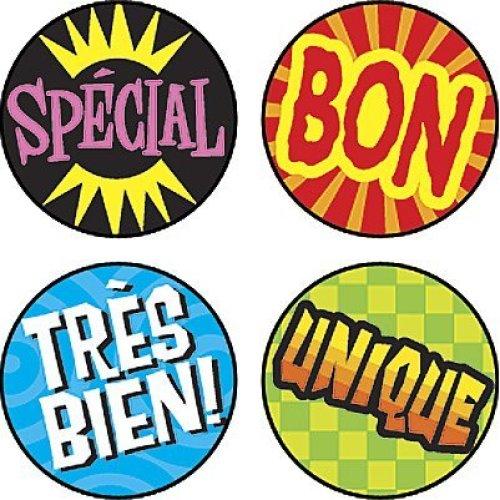 Les Mots deloge (French Praisers) superSpots Stickers