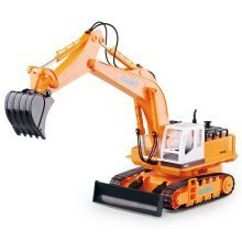 deAO RC Excavator Digger Truck Excavator with LED Lights and Sounds Radio Controlled Construction Truck Include Rechargeable Battery and Charger