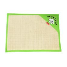 Natual Soft Pet Dog Bed Mat Double Sided Dual-use Straw Mat GREEN, 53*38cm