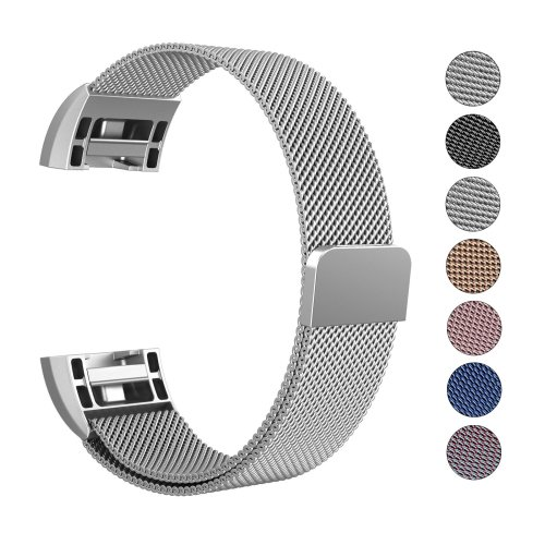 """RETECK Fitbit Charge 2 Strap Band Replacement Small (5.5""""- 8.5"""") - Silver"""