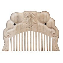 Elephant Wooden Comb Hair Comb Carved Peach Comb