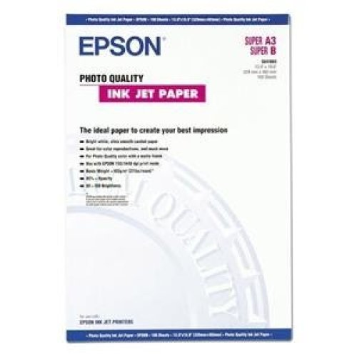 Epson Photo Quality Ink Jet Paper, DIN A3+, 102g/m2, 100 Sheets photo paper