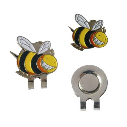 Little Bee Pattern Golf Hat Ball Marker