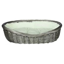 Trixie Basket With Cover And Cushion, 60cm, Grey - Dog Various Sizes New -  trixie dog basket grey various sizes new