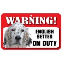 English Setter Pet Sign
