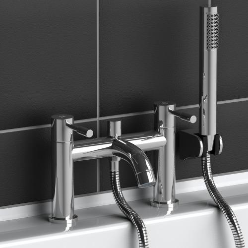 Gx52 Modern Chrome Plated Brass Bathroom Filler Bath Mixer Shower Tap