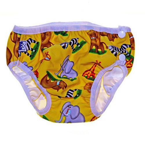 Yellow Zoo Infant Swim Diapers Swim Pants Swim Brief, XL Size
