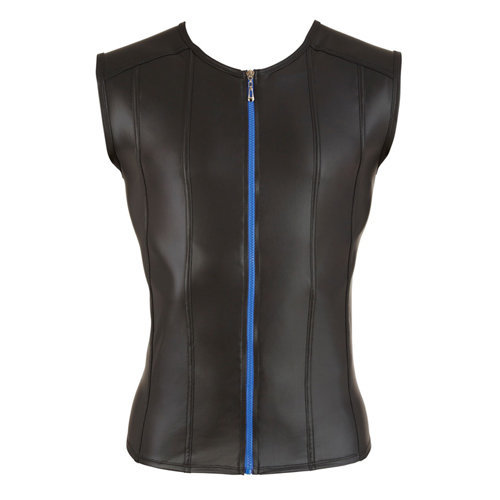 Men's Shirt With Blue Zipper Large Men's Lingerie Shirts - Svenjoyment Underwear