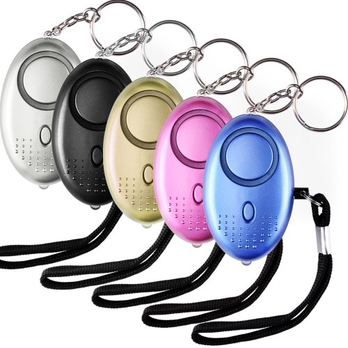 5 PACK 130db Personal Security Alarm Keychain with LED light, Emergency Self-Defense Security Alarm Providing Powerful Safety and Property Assurance for Women/Kids /Elderly/Girls /Explorer