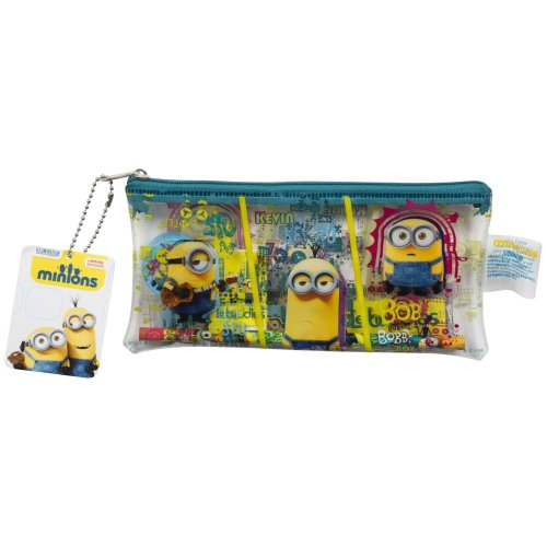 Minions Pencil Case 5 pc | Minions Filled Pencil Case Set