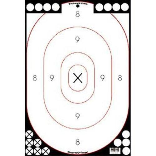 Birchwood Casey 34615 Shoot-N-C Wht-Blk 12 in.x18 in.Sil5Pck