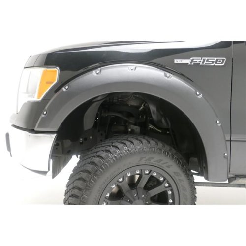 TrailFX T84-PFFC3004S Smooth Black Front & Rear Fender Flares for 2019-2019 Chevrolet Silverado 1500 LD- Old Model