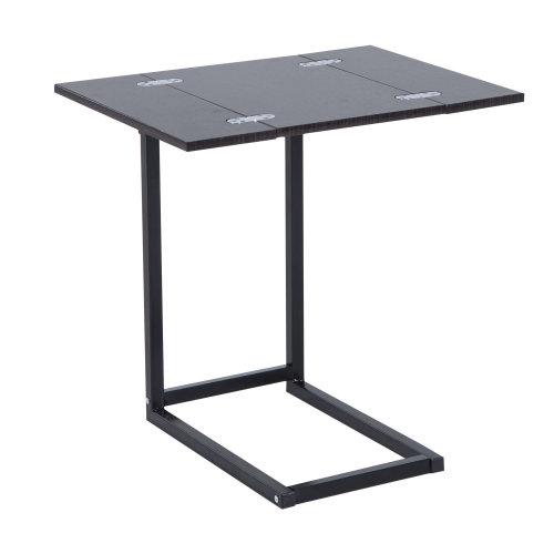 Homcom Extending Table Folding Tray Table Foldable Bed Side Coffee Tea Laptop Desk