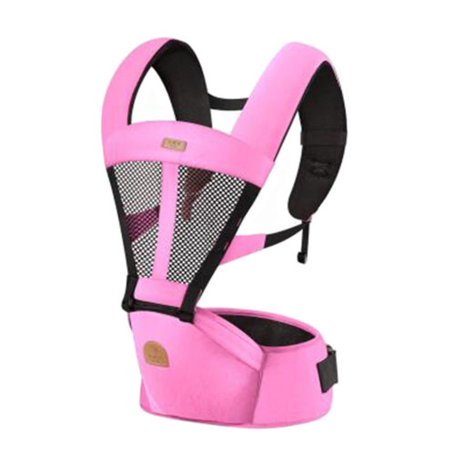 Soft Polyester Baby Carrier Best Baby Backpack Cotton belt Pink