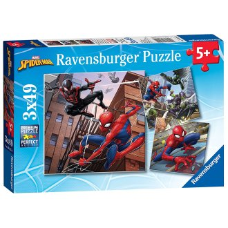 Ravensburger Marvel Spider-Man, 3x 49pc Jigsaw Puzzles