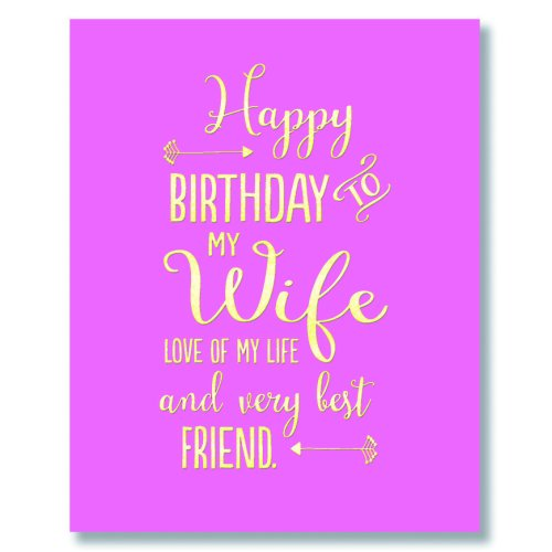 Birthday Card My Wife Love Of My Life And Very Best Friend