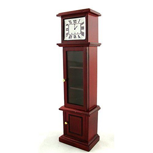 Town Square Miniatures Dolls House Furniture Mahogany Grandfather Clock 798