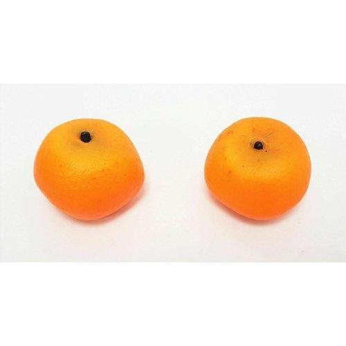 2 Artificial Satsumas - Artificial Plastic Decorative Faux Orange Fruit