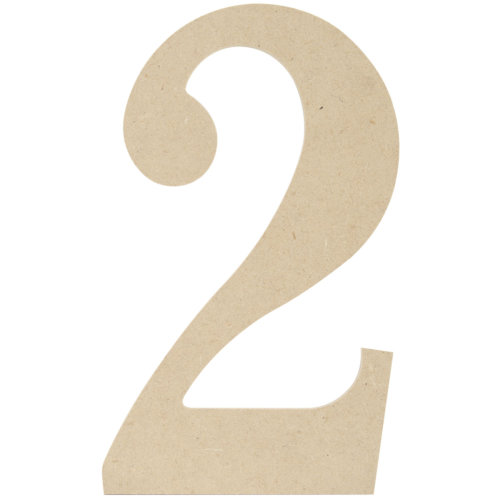 """MDF Classic Font Wood Letters & Numbers 9.5""""-2"""